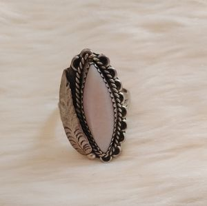 90s vintage new native American Navajo pink Ring